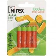 Комплект аккумуляторов «Mirex», HR03-10-E4, 4шт.