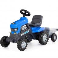 Каталка-трактор «Полесье» Turbo, синий, 84637