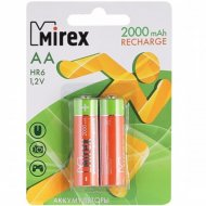 Комплект аккумуляторов «Mirex», HR6-20-E2, 2шт.
