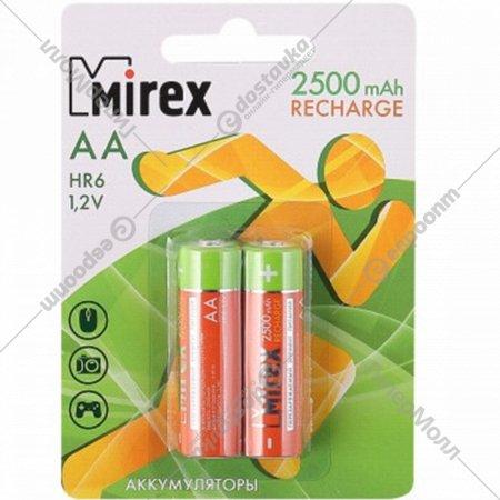 Комплект аккумуляторов «Mirex», HR6-25-E2, 2шт.