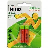 Комплект аккумуляторов «Mirex»,HR03-10-E2, 2шт.