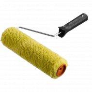 Валик «Зубр» зелёный, с ручкой, 18 см.
