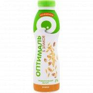 Йогурт питьевой «Оптималь» злаки, 2%, 415 г