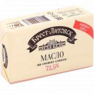 Масло сладкосливочное «Брест-Литовск» несоленое, 72.5%, 120 г