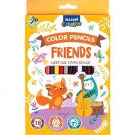 Карандаши цветные «Friends» 18 цветов.