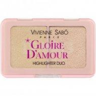 Палетка хайлайтеров «Vivienne Sabo» Gloire D'Amour, персиковый, 6 г.