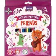 Карандаши цветные «Friends» 24 цвета.