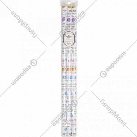 Бумага декоративная в рулоне, YC-13, 3 шт.