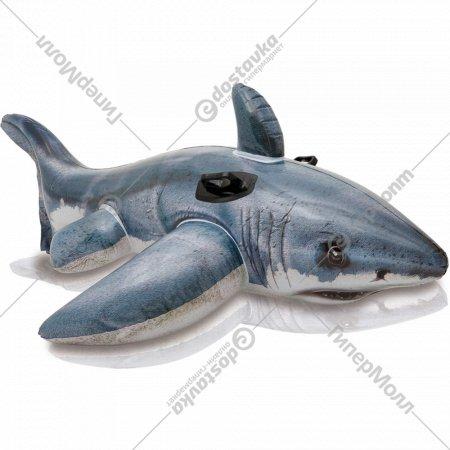 Круг надувной детский с держателями «Акула» 173х107 см.