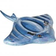 Круг надувной пластмассовый детский с держателями «Скат» 188х145 см.