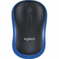 Мышь «Logitech» M185, 910-002239, синий/черный.