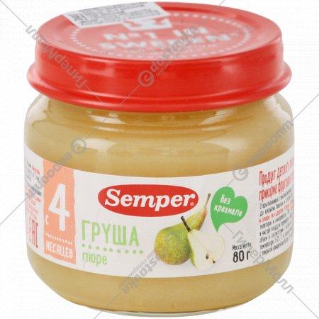 Пюре «Semper» груша, 80 г.