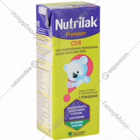 Смесь «Nutrilak Premium» соя 0+, 200 мл.