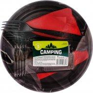 Набор одноразовой посуды «Camping» на 5 персон