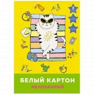 Набор белого картона «Каникулы кота».
