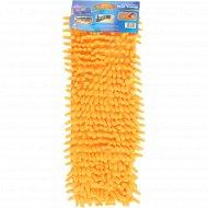 Насадка на швабру текстильная сменная 42х14 см