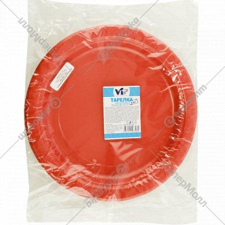 Тарелки бумажные «VIP» 6 шт, 230 мм, в ассортименте.