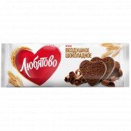 Печенье «Любятово» воздушное шоколадное, 180 г.