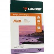 Фотобумага «Lomond» для струйной печати А4, двухсторонняя, 100листов.