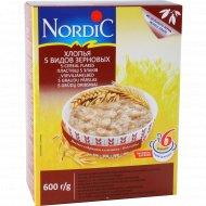 Хлопья «Nordik» 5 видов зерновых, 600 г.