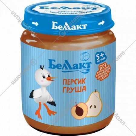 Пюре «Беллакт» персик, груша, 100 г.