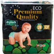 Подгузники «Eco» baby Care with love, 4-9 кг, 72 штук.