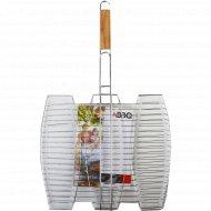Решетка для гриля металлическая, для рыбы 41x37 см.