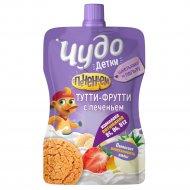 Йогурт «Чудо» тутти-фрутти с печеньем, 2.7%, 85 г.