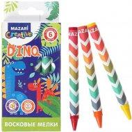 Восковые мелки «Dino» 6 цветов.