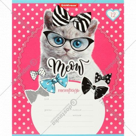 Тетрадь школьная «Cool Cat» в линейку, 12 листов.