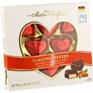 Конфеты шоколадные «Maitre Truffout» марципановые сердечки, 110 г.
