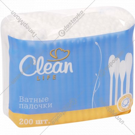 Ватные палочки «Clean» 200 шт.
