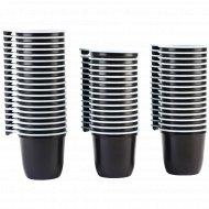 Чашки одноразовые, коричнево-белые, 0.2 л, 50 шт.