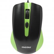 Мышь проводная «Smartbuy» One 352, SBM-352-GK, зелено-черная.