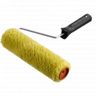 Валик «Зубр» с ручкой, зеленый, 18 см.
