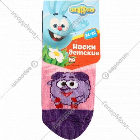 Носки детские «Смешарики» 11-12, розовые.