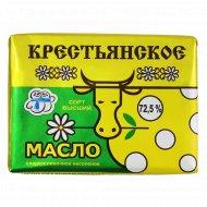Масло сладкосливочное «Крестьянское» несоленое 72.5 %, 180 г.