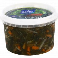 Салат из морской капусты По-корейски в уксусно-масляной заливке.