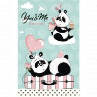 Блокнот «Изнеженные панды» А6 96 листов.