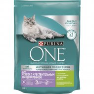 Корм сухой для кошек «Purina One» с индейкой и рисом, 200 г.
