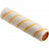Валик «Зубр» бело-жёлтый, с ручкой, 18 см.