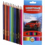 Карандаши цветные «Супер скорость» 12 цветов.
