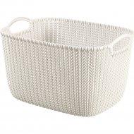 Корзина «Curver» knit rect l, 226379, белый, 18 л, 400x280x230.