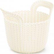 Корзинка «Knit» белая, для мелочей, 18х23х19 см.