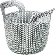 Корзинка «Knit» серая, для мелочей, 23х19х19 см.