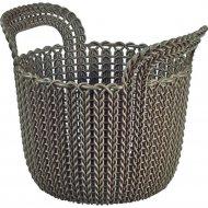 Корзинка «Knit» темно-коричневая, для мелочей, 23х19х19 см.