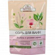 Соль для ванн «Зеленая Аптека» вербена и розовое дерево, 500 г.