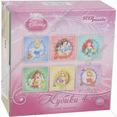 Кубики «Принцессы» 4 шт.
