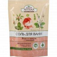 Соль для ванн «Зеленая Аптека» роза и пачули, 500 г.