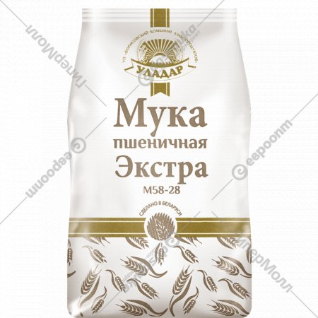 Мука пшеничная высший сорт «Уладар» экстра, М54-28, 0.8 кг.